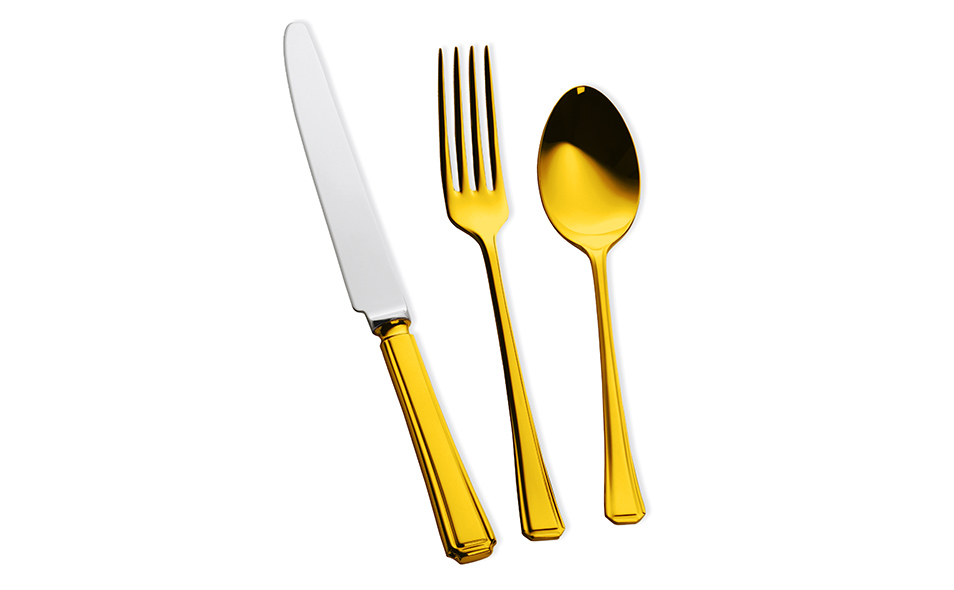 HARLEY 24 Carat Gold Plated Cutlery