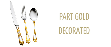 Part Gold Decorated Cutlery