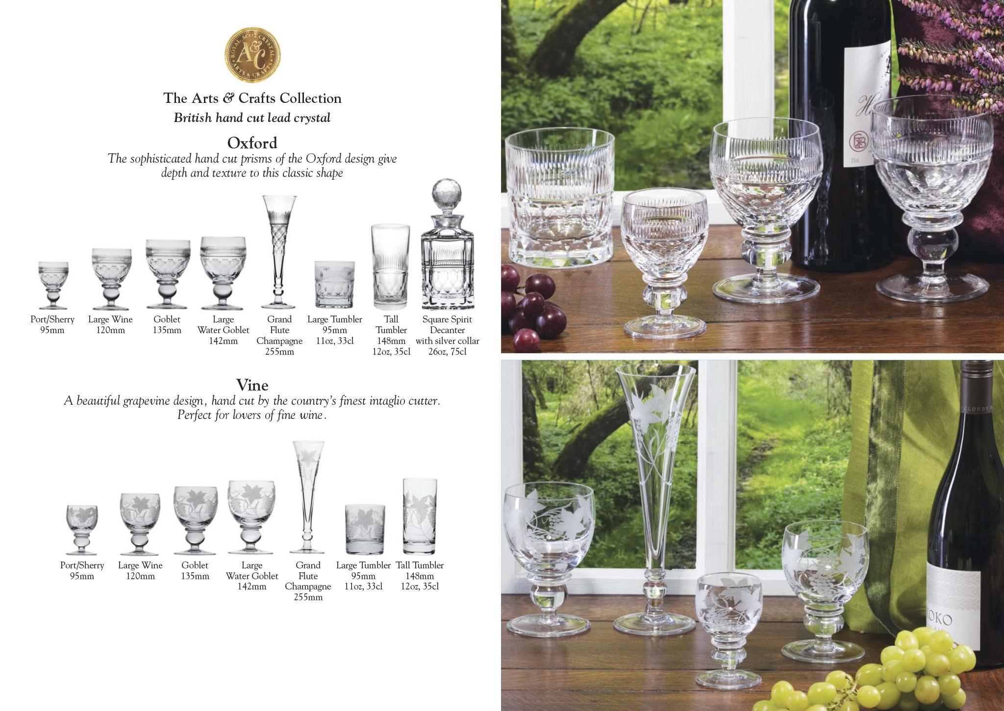 Royal Scot Crystal - The Arts &  Crafts Collection