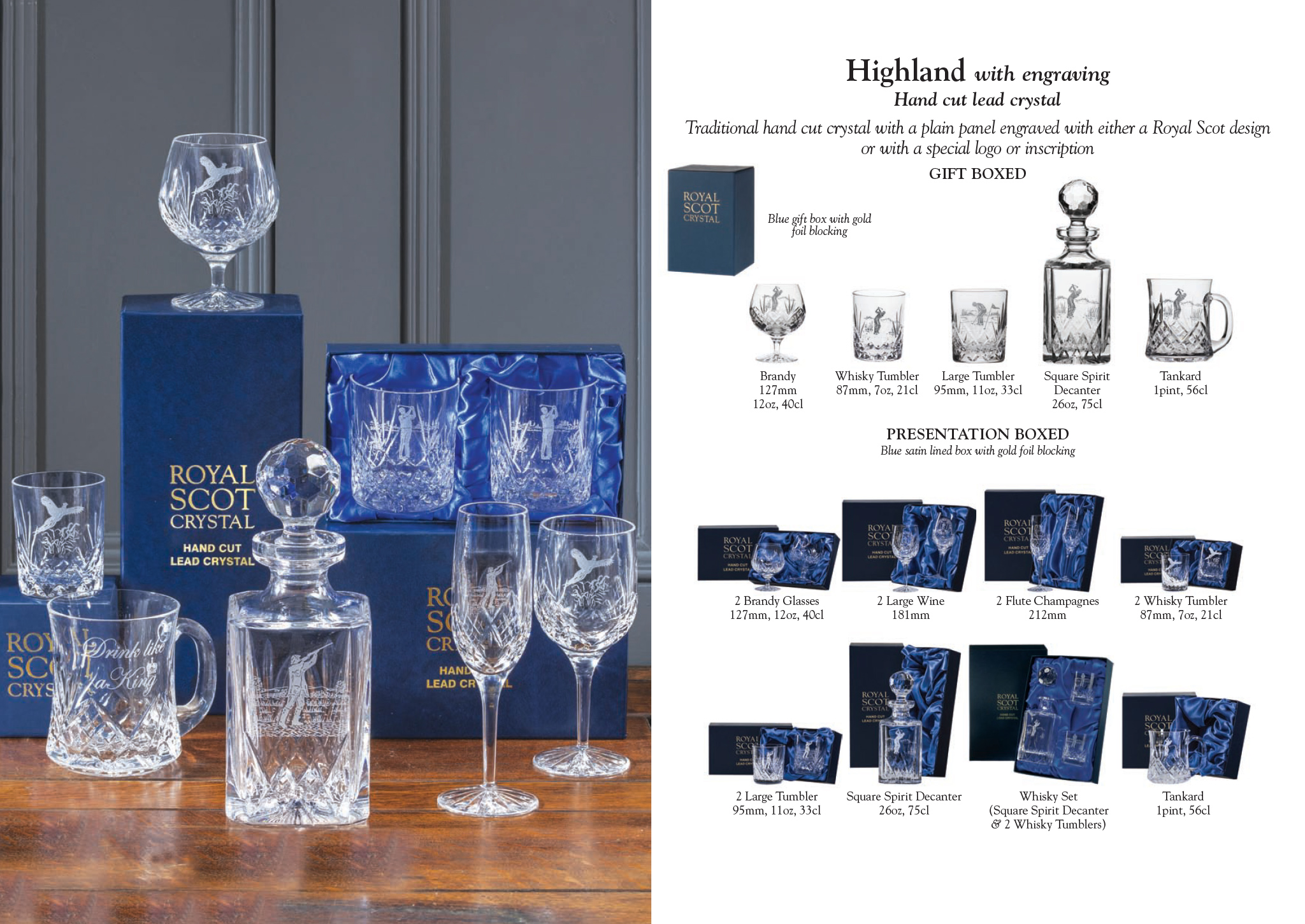 Royal Scot Crystal - Engraved & Bespoke