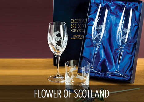 Royal Scot Crystal - Flower of Scotland
