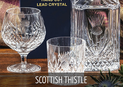 Royal Scot Crystal - Scottish Thistle