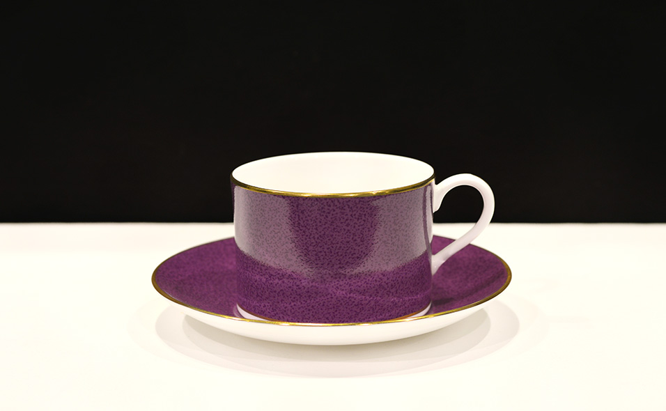 Tewkesbury Princess Coffee cup and saucer in Cobalt Blue colour